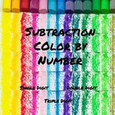 Subtraction Color by Numbers