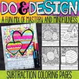 2 and 3 Digit Subtraction Color by Number - Do and Design