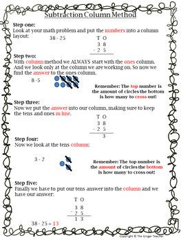 Subtraction Column Method Complete Maths Lesson