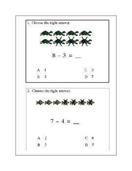 Subtraction Combinations and Fact Families
