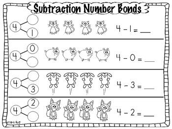 subtraction common core number bond practice pages by tara west tpt. Black Bedroom Furniture Sets. Home Design Ideas
