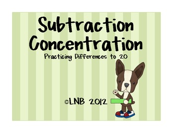 Subtraction Concentration Game