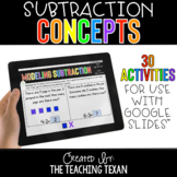 Subtraction Concepts Activities for Google and Distance Learning