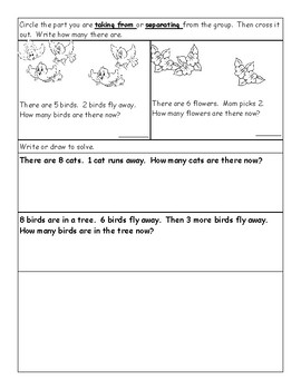 Subtraction Concepts Daily Practice