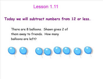 Smart Board Lessons: Primary Subtraction Concepts