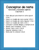 Subtraction Concepts (Spanish Practice Worksheets)