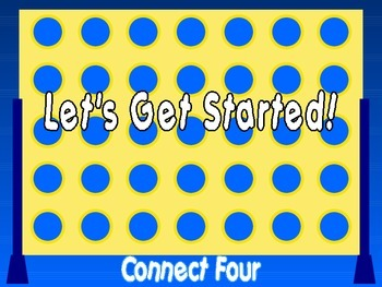 Subtraction : Connect Four PowerPoint Game