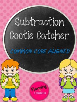Subtraction Cootie Catcher