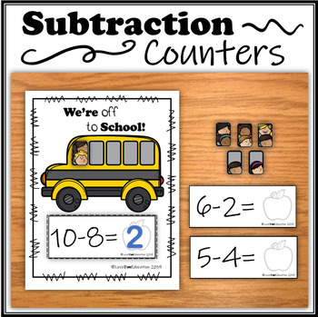 Subtraction Counters – We're off to School