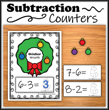 Subtraction Counters – Winter Wreath