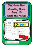 Subtraction Counting Back from 10 Write The Answer