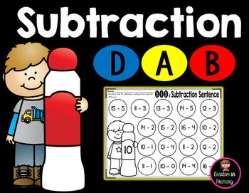 Subtraction Dab