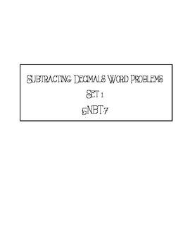 Subtraction Decimals Word Problems