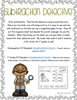 Subtraction Detective
