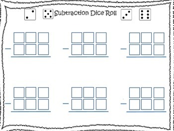 Subtraction Dice Roll!
