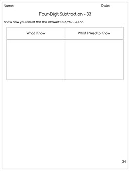 Subtraction Differentiated Question Pages