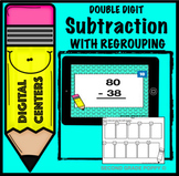 Subtraction Digital Center Double Digit with Regrouping