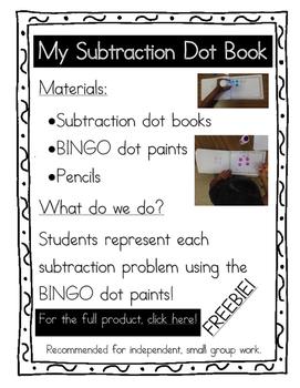 Subtraction Dot Book {FREEBIE}
