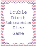 Subtraction Double Digit Dice Game