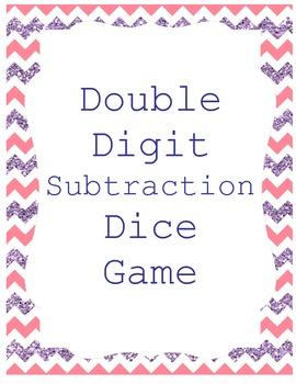 Subtraction Double Digit Dice Game