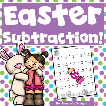 Double Digit Subtraction Worksheets ~ Easter