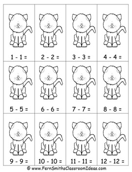 Subtraction Center Game A Quick and Easy to Prep Center Subtracting Doubles