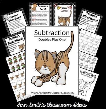 Subtraction Math Center Games Addition Doubles Plus One Center Bundle