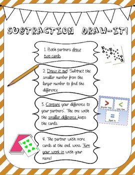 Subtraction Draw it Game!