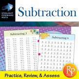 Subtraction Drills: Straight Forward Math