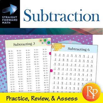 Subtraction Drills: Straight Forward Math