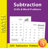 Subtraction: Drills & Word Problems Practice