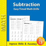 Subtraction: Easy Timed Math Drills
