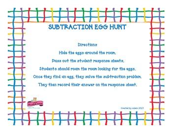 Subtraction Egg Hunt