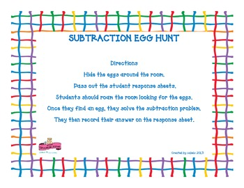 Subtraction Egg Hunt