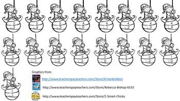 Subtraction Elves - Facts 1 - 10 - A FREEBIE