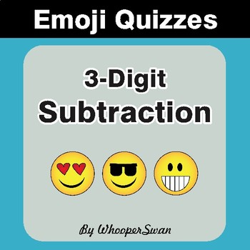 Subtraction Emoji Quiz (3-Digit minus 3-Digit)