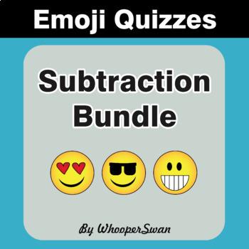 Subtraction Emoji Quiz Bundle