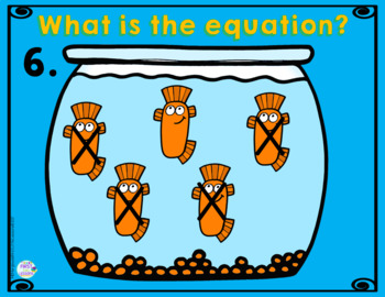 Subtraction Equations From 5 Fish Bowls