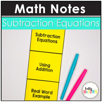 Subtraction Equations Notes