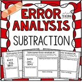 Subtraction Error Analysis with Regrouping  {Center, Enric
