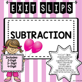 Subtraction Exit Slips
