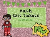Subtraction Exit Tickets