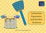 Subtraction Expressions and Number Sentences Koosh Ball Game for SMART Notebook