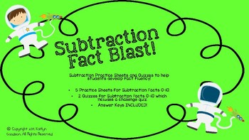 Subtraction Fact Blast!