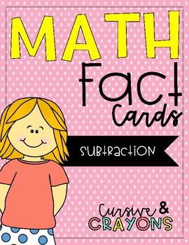 Subtraction Fact Cards