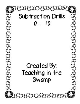 Subtraction Fact Drills