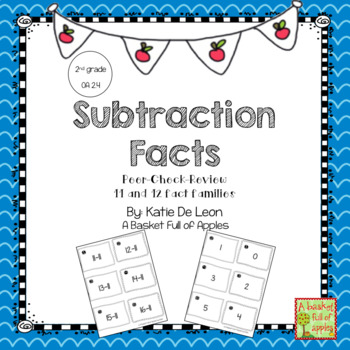 Subtraction Fact Families 11 and 12 Cooperative Learning: Peer-Check-Review