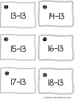 Subtraction Fact Families 13 and 14 Cooperative Learning Peer-Check-Review
