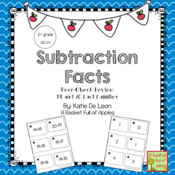 Subtraction Fact Families 19 and 20 Cooperative Learning Peer-Check-Review