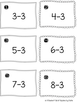 Subtraction Fact Families 3 and 4 Cooperative Learning Peer-Check-Review